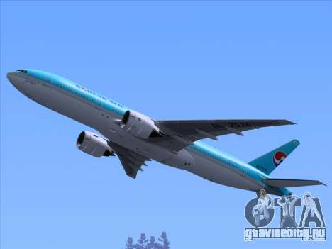 Boeing 777-2B5ER Korean Air для GTA San Andreas колёса