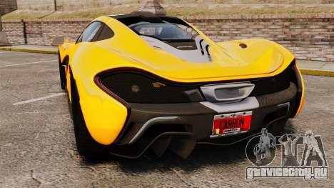 McLaren P1 2013 для GTA 4 вид сзади слева