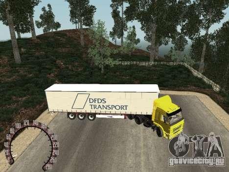 Прицеп для КамАЗ 54115 для GTA San Andreas вид слева