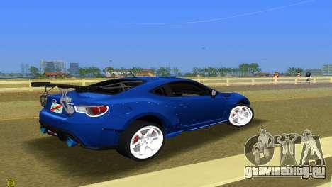 Subaru BRZ Type 5 для GTA Vice City вид справа