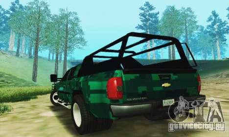 Chevrolet Silverado 3500 Military для GTA San Andreas вид сзади слева