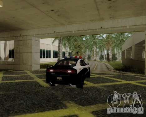 Dodge Charger 2012 Police IVF для GTA San Andreas вид справа