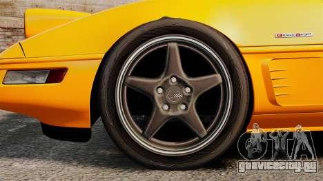 Chevrolet Corvette C4 1996 v1 для GTA 4 вид сзади