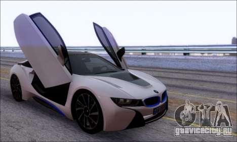 BMW I8 для GTA San Andreas вид изнутри