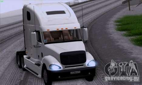 Freightliner Columbia для GTA San Andreas вид изнутри