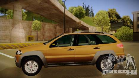 FIAT Palio Weekend Adventure Locker 2010 для GTA San Andreas вид сзади слева