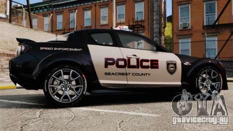 Mazda RX-8 R3 2011 Police для GTA 4 вид слева