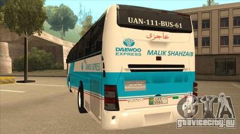 Zaibee Daewoo Express Coach для GTA San Andreas вид сзади