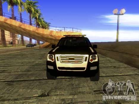 Ford Explorer 2010 Police Interceptor для GTA San Andreas вид слева