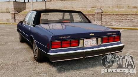 Chevrolet Caprice Brougham 1986 для GTA 4 вид сзади слева