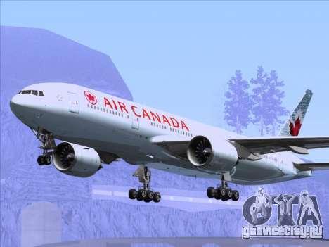 Boeing 777-200ER Air Canada для GTA San Andreas колёса