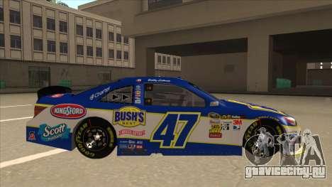 Toyota Camry NASCAR No. 47 Bushs Beans для GTA San Andreas вид сзади слева