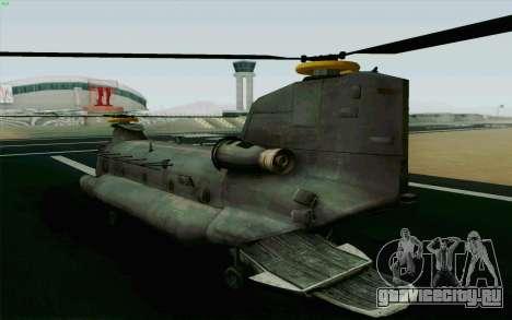 MH-47 для GTA San Andreas вид слева