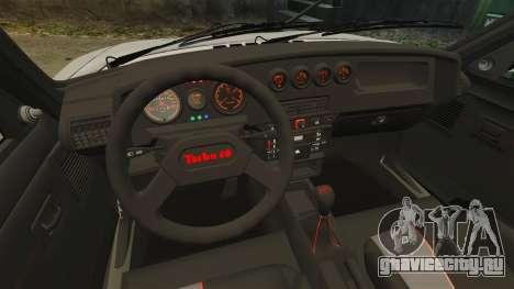 Peugeot 205 Turbo 16 для GTA 4 вид изнутри