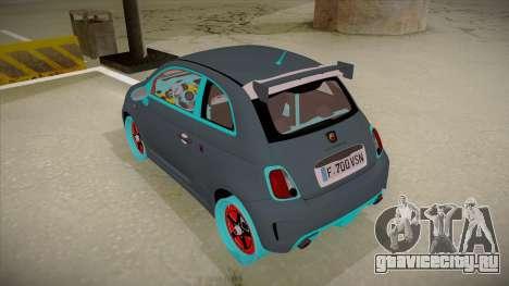 Abarth 500 Esseesse 2010 для GTA San Andreas вид сзади