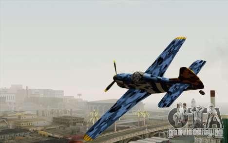 Rustler в зимнем камуфляже для GTA San Andreas вид сзади