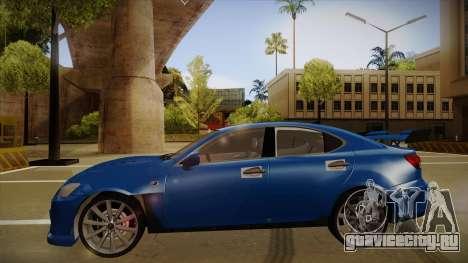 Lexus IS F V1 для GTA San Andreas вид сзади слева