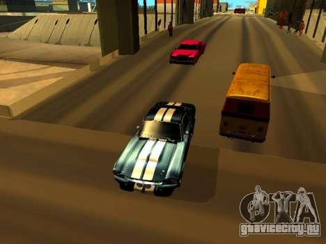 Ford Shelby GT-500E Eleanor для GTA San Andreas вид сзади