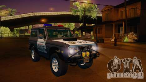 Ford Bronco 1966 Sheriff для GTA San Andreas вид справа