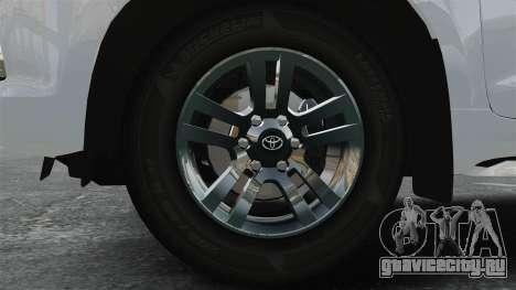 Toyota Land Cruiser Prado 150 для GTA 4 вид сзади