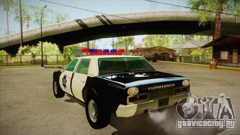 Fasthammer Police SF для GTA San Andreas вид сзади слева