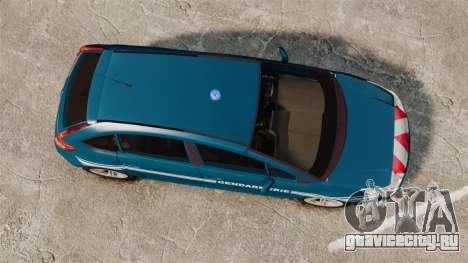 Citroen C4 Gendarmerie [ELS] для GTA 4 вид справа