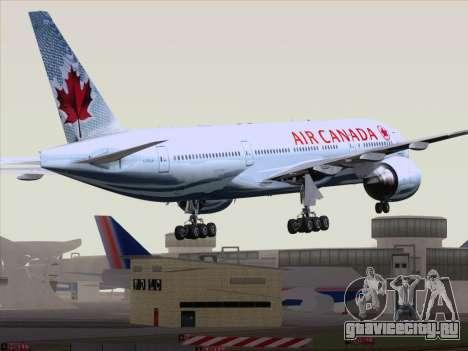 Boeing 777-200ER Air Canada для GTA San Andreas вид сзади слева