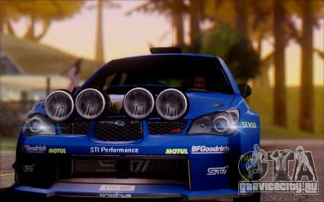 Subaru Impreza WRX STI WRC для GTA San Andreas вид сзади слева