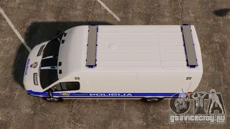 Mercedes-Benz Sprinter Croatian Police v2 [ELS] для GTA 4 вид справа