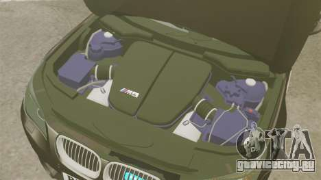 BMW M5 E60 Metropolitan Police Unmarked [ELS] для GTA 4 вид изнутри