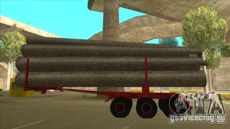 1-ый полуприцеп-лесовоз к Hayes H188 для GTA San Andreas вид слева