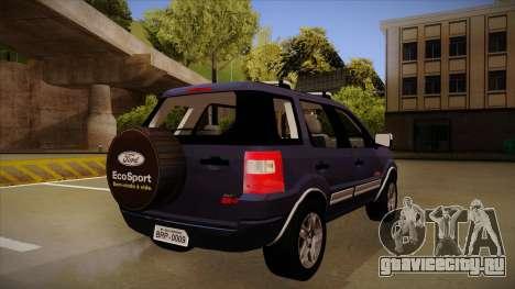 Ford Ecosport FreeStyle 2007 для GTA San Andreas вид справа