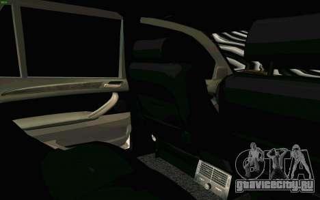 BMW X5 для GTA San Andreas вид снизу
