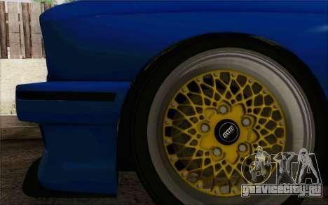 BMW M3 E30 Stance для GTA San Andreas вид изнутри