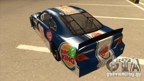Toyota Camry NASCAR No. 93 Burger King Dr Pepper для GTA San Andreas вид сзади
