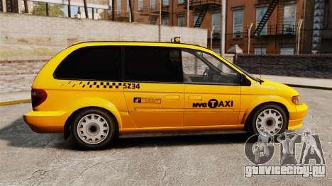 Dodge Grand Caravan 2005 Taxi NYC для GTA 4 вид слева