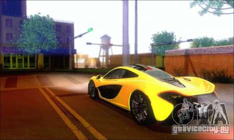 McLaren P1 EPM для GTA San Andreas вид сзади