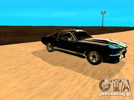 Ford Shelby GT-500E Eleanor для GTA San Andreas вид сзади слева