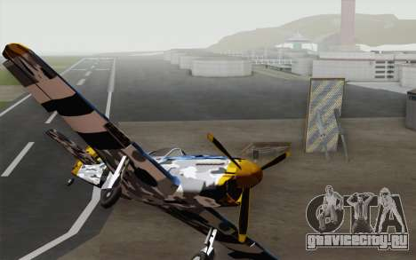 Rustler в зимнем камуфляже для GTA San Andreas вид справа
