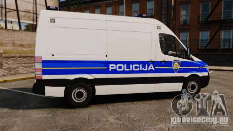 Mercedes-Benz Sprinter Croatian Police v2 [ELS] для GTA 4 вид слева