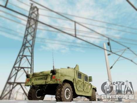 Humvee Serbian Army для GTA San Andreas вид слева