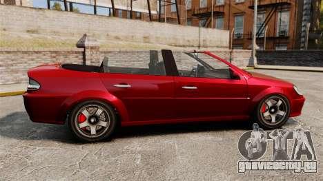 Тюнинг-кабриолет версия Premier для GTA 4 вид слева