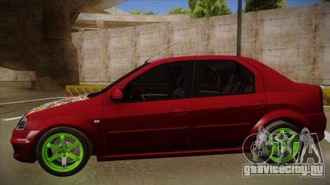 Dacia Logan Hellaflush для GTA San Andreas вид сзади слева