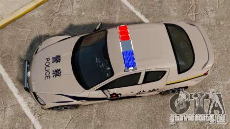 Mazda RX-8 R3 2011 Police для GTA 4 вид справа