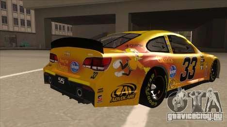 Chevrolet SS NASCAR No. 33 Cheerios для GTA San Andreas вид справа