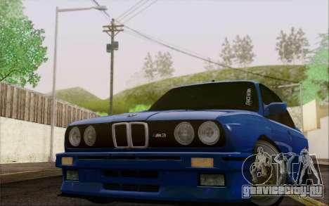 BMW M3 E30 Stance для GTA San Andreas вид сзади слева