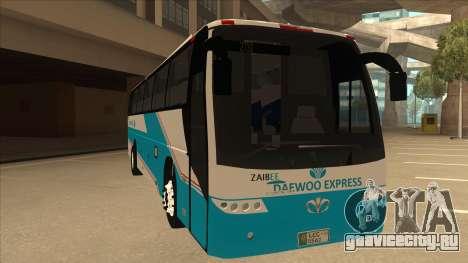 Zaibee Daewoo Express Coach для GTA San Andreas вид слева