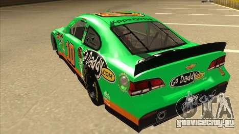 Chevrolet SS NASCAR No. 10 Go Daddy для GTA San Andreas вид сзади