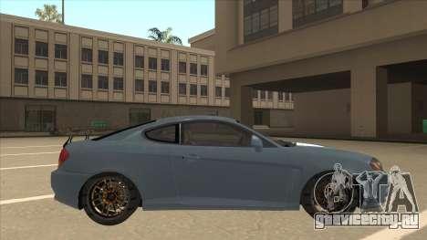 Hyundai Coupe V6 Soft Tuned v1 для GTA San Andreas вид сзади слева