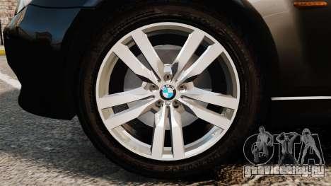 BMW M5 E60 Metropolitan Police Unmarked [ELS] для GTA 4 вид сзади